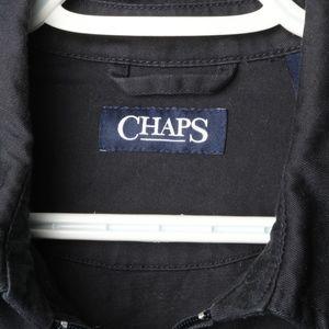 Mens Chaps Coat %100 Cotton Black Size M